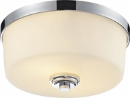 Z-Lite 225F2 Lamina Chrome12.125  Wide Flush Ceiling Light Fixture