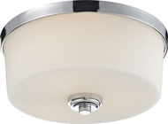 Z-Lite 225F3 Lamina Chrome6.375  Tall Flush Mount Ceiling Light Fixture
