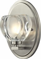 Z-Lite 3022-1V Hale Brushed Nickel 8  Tall Halogen Wall Sconce Lighting