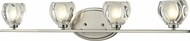 Z-Lite 3022-4V Hale Brushed Nickel 29.25  Wide Halogen 4-Light Bathroom Wall Light Fixture