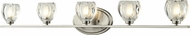 Z-Lite 3022-5V Hale Brushed Nickel 5.75  Tall Halogen 5-Light Bathroom Lighting