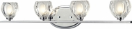 Z-Lite 3023-4V Hale Chrome5.75  Tall Halogen 4-Light Bathroom Light