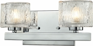 Z-Lite 3028-2V-LED Rai Modern Chrome LED 2-Light Bathroom Lighting Sconce