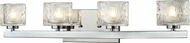 Z-Lite 3028-4V Rai Chrome5.375  Tall Halogen 4-Light Bathroom Vanity Light