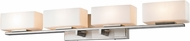Z-Lite 3029-4V-BN-LED Kaleb Contemporary Brushed Nickel LED 4-Light Vanity Light