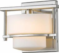 Z-Lite 3030-1S-BN-LED Porter Contemporary Brushed Nickel LED Wall Lighting Sconce