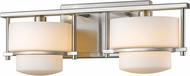 Z-Lite 3030-2V-BN-LED Porter Modern Brushed Nickel LED 2-Light Bathroom Sconce