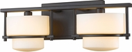 Z-Lite 3030-2V-BRZ-LED Porter Contemporary Bronze LED 2-Light Bath Sconce