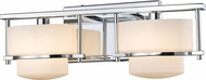 Z-Lite 3030-2V-CH-LED Porter Modern Chrome LED 2-Light Vanity Light Fixture