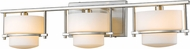 Z-Lite 3030-3V-BN-LED Porter Contemporary Brushed Nickel LED 3-Light Vanity Lighting Fixture