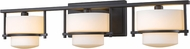 Z-Lite 3030-3V-BRZ-LED Porter Modern Bronze LED 3-Light Bathroom Vanity Light Fixture