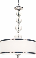 Z-Lite 308P-BN Cosmopolitan Brushed Nickel 33  Tall Drum Hanging Pendant Lighting