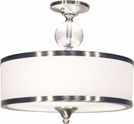 Z-Lite 308SF-BN Cosmopolitan Brushed Nickel 15.5  Wide Ceiling Light Fixture