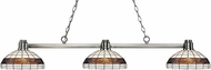 Z-Lite 314BN-F14-1 Park Brushed Nickel Multi-Coloured Tiffany Island Light Fixture