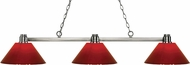 Z-Lite 314BN-PRD Park Brushed Nickel Red Island Light Fixture
