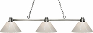 Z-Lite 314BN-PWH Park Brushed Nickel White Kitchen Island Light Fixture