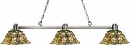 Z-Lite 314BN-R14A Park Brushed Nickel Multi-Coloured Tiffany Island Lighting