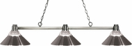 Z-Lite 314BN-RBN Park Brushed Nickel Clear Ribbed Glass & Brushed Nickel Kitchen Island Lighting