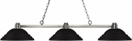 Z-Lite 314BN-SMB Park Brushed Nickel Stepped Matte Black Island Light Fixture