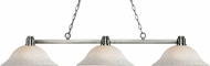 Z-Lite 314BN-WM16 Park Brushed Nickel White Mottle Kitchen Island Light