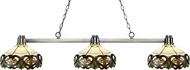 Z-Lite 314BN-Z14-33 Park Brushed Nickel Multi-Coloured Tiffany Island Lighting