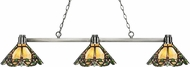Z-Lite 314BN-Z14-37 Park Brushed Nickel Multi-Coloured Tiffany Island Light Fixture