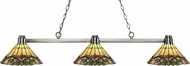 Z-Lite 314BN-Z14-49 Park Brushed Nickel Multi-Coloured Tiffany Island Lighting