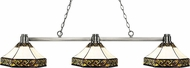 Z-Lite 314BN-Z16-30 Park Brushed Nickel Multi-Coloured Tiffany Kitchen Island Lighting