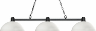 Z-Lite 314BRZ-DMO14 Park Bronze Dome Matte Opal Kitchen Island Light