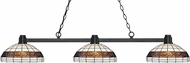 Z-Lite 314BRZ-F14-1 Park Bronze Multi-Coloured Tiffany Kitchen Island Light Fixture