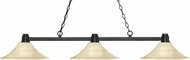 Z-Lite 314BRZ-FGM16 Park Bronze Fluted Golden Mottle Island Lighting