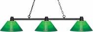 Z-Lite 314BRZ-GCG14 Park Bronze Green Cased Kitchen Island Light