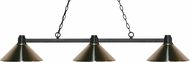 Z-Lite 314BRZ-MBN Park Bronze Brushed Nickel Island Lighting