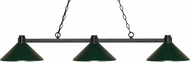 Z-Lite 314BRZ-MDG Park Bronze Dark Green Island Light Fixture