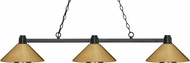 Z-Lite 314BRZ-MPB Park Bronze Polished Brass Kitchen Island Lighting