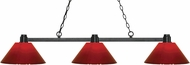 Z-Lite 314BRZ-PRD Park Bronze Red Kitchen Island Light Fixture