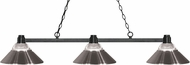 Z-Lite 314BRZ-RBN Park Bronze Clear Ribbed Glass & Brushed Nickel Kitchen Island Light