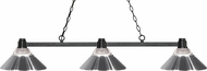 Z-Lite 314BRZ-RCH Park Bronze Clear Ribbed Glass & Chrome Island Light Fixture