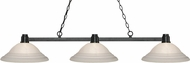 Z-Lite 314BRZ-SW16 Park Bronze White Swirl Kitchen Island Light Fixture