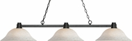 Z-Lite 314BRZ-WM16 Park Bronze White Mottle Kitchen Island Lighting