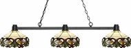Z-Lite 314BRZ-Z14-33 Park Bronze Multi-Coloured Tiffany Kitchen Island Light Fixture