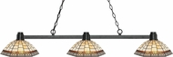 Z-Lite 314BRZ-Z14-35 Park Bronze Multi-Coloured Tiffany Kitchen Island Lighting