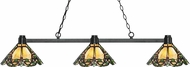 Z-Lite 314BRZ-Z14-37 Park Bronze Multi-Coloured Tiffany Kitchen Island Light