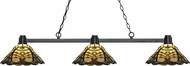 Z-Lite 314BRZ-Z14-46 Park Bronze Multi-Coloured Tiffany Island Light Fixture