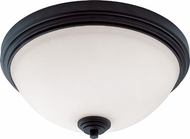 Z-Lite 314F3-BRZ Chelsey Dark Bronze 14  Wide Flush Mount Light Fixture