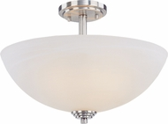 Z-Lite 314SF-BN Chelsey Brushed Nickel 11.25  Tall Flush Mount Ceiling Light Fixture