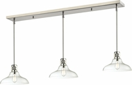 Z-Lite 320-13MP-3BN Forge Modern Brushed Nickel Clear Multi Hanging Pendant Light