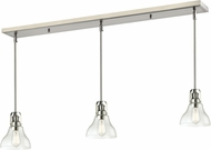 Z-Lite 320-8MP-3BN Forge Contemporary Brushed Nickel Clear Multi Pendant Hanging Light