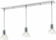 Z-Lite 321-8MP-3CH Forge Contemporary Chrome Clear Multi Drop Lighting