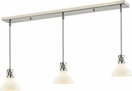 Z-Lite 324-8MP-3BN Forge Contemporary Brushed Nickel Matte Opal Multi Drop Ceiling Light Fixture